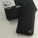 PRADA 1M0506-03 人氣熱銷經典新款黑色原版皮拉鏈長款錢夾