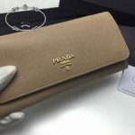 PRADA 1M1132-02 人氣熱銷經典新款棕色原版皮長款錢夾