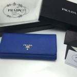 PRADA 1M1132-01 人氣熱銷經典新款藍色原版皮長款錢夾