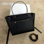CELINE 98311-04 時尚新款女士黑色荔枝紋手提單肩包小號鯰魚包
