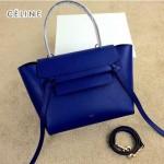 CELINE 98311-03 時尚新款女士電光藍荔枝紋手提單肩包小號鯰魚包