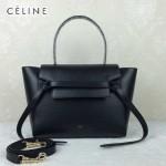 CELINE 98311-016 時尚拼色元素黑色原版皮小號鯰魚包手提單肩包
