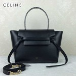 CELINE 98312-012 時尚拼色元素黑色原版皮大號鯰魚包