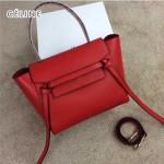 CELINE 98311-05 時尚新款女士紅色荔枝紋手提單肩包小號鯰魚包