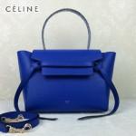 CELINE 98312-039 名媛必備熒光藍色原版皮大號鯰魚包