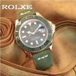 ROLEX-047 勞力士新款瑞機水鬼系列進口磨砂牛皮復古手表