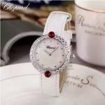 Chopard-033-06 蕭邦原裝瑞士石英機芯藍寶石水晶鏡面女士腕表