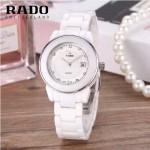 RADO-0117-4 時尚潮流新款白色陶瓷配閃亮銀進口石英腕錶