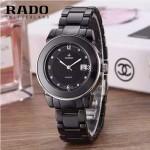 RADO-0117-3 時尚潮流新款黑色陶瓷配閃亮銀進口石英腕錶