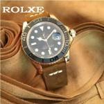 ROLEX-047-02 勞力士新款瑞機水鬼系列進口磨砂牛皮復古手表