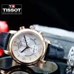 TISSOT-T064-08 名媛必備日本石英機芯藍寶石水晶玻璃女士腕表