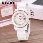 RADO-0117-2 時尚潮流新款白色陶瓷配土豪金進口石英腕錶