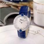 Chopard-033-07 蕭邦原裝瑞士石英機芯藍寶石水晶鏡面女士腕表