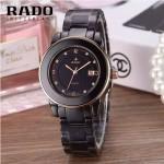 RADO-0117 時尚潮流新款黑色陶瓷配土豪金進口石英腕錶