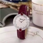Chopard-033-05 蕭邦原裝瑞士石英機芯藍寶石水晶鏡面女士腕表