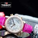 TISSOT-T064-02 名媛必備日本石英機芯藍寶石水晶玻璃女士腕表