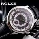 ROLEX-046 勞力士進口石英機芯礦物耐磨玻璃男士腕表