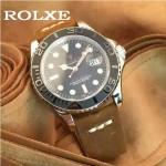 ROLEX-047-03 勞力士新款瑞機水鬼系列進口磨砂牛皮復古手表