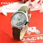 COACH-07-04 名媛必備蔻馳COACH原單帆布表帶女士腕表