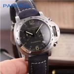 PN1199-2 時尚女士閃亮銀黑底配磨砂牛皮錶帶進口石英腕錶