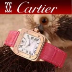 CARTIER-291-01 卡地亞山度士100周年進口石英機芯女士腕表