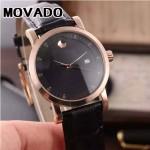 MOVADO-058-8 潮流商務男士兩針半土豪金黑底316精鋼錶殼進口石英腕錶