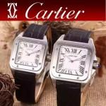 CARTIER-290-01 卡地亞山度士100周年進口石英機芯男女對表