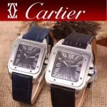 CARTIER-290-02 卡地亞山度士100周年進口石英機芯男女對表