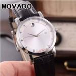 MOVADO-058-9 潮流商務男士兩針半閃亮銀白底316精鋼錶殼進口石英腕錶