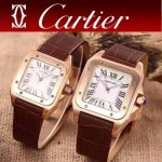 CARTIER-290-03 卡地亞山度士100周年進口石英機芯男女對表