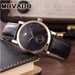 MOVADO-058-18 潮流商務男士兩針半土豪金黑底316精鋼錶殼進口石英腕錶