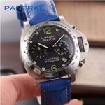 PN1199-4 時尚女士閃亮銀黑底配藍色鱷魚紋錶帶進口石英腕錶