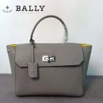 BALLY 9802-3 潮流明星張歆藝同款灰色牛皮蝙蝠包手提單肩包