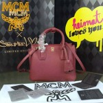 MCM-027-09 潮流時尚新款唐嫣同款原版皮小號手提斜背包