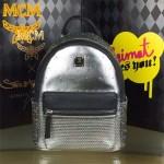 MCM-020 潮流新款燙鉆蛇紋釘配魚子醬紋皮大容量雙肩背包