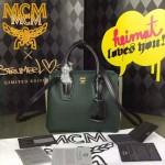 MCM-027 潮流時尚新款唐嫣同款原版皮小號手提斜背包