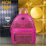 MCM-040-02 潮流時尚新款M鉆全皮原版玻璃鉆新款雙肩包