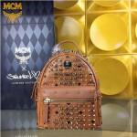 MCM-049-08 潮流時尚MCM新款mini原版玻璃鉆雙肩包