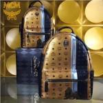 MCM-054 潮流時尚MCM新款拼色純手工繡花款雙肩包