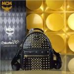 MCM-049-03 潮流時尚MCM新款mini原版玻璃鉆雙肩包