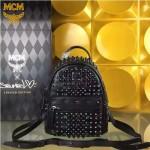 MCM-049-01 潮流時尚MCM新款mini原版玻璃鉆雙肩包