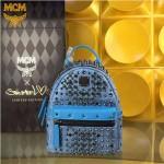MCM-049-06 潮流時尚MCM新款mini原版玻璃鉆雙肩包