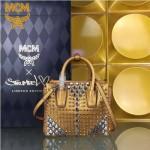 MCM-045 潮流時尚新款MCM舒淇同款原版皮手提斜背包