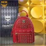 MCM-049-04 潮流時尚MCM新款mini原版玻璃鉆雙肩包