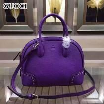 GUCCI 384699-6 歐美潮流百搭女士紫色全皮手提單肩包