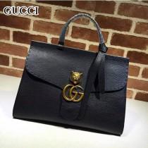 GUCCI 409155 OL白領必備時尚女士黑色全皮手提袋商務包