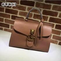 GUCCI 409155-3 OL白領必備時尚女士棕色全皮手提袋商務包