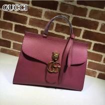 GUCCI 409155-2 OL白領必備時尚女士粉色全皮手提袋商務包
