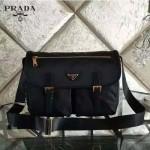 PRADA BT0789 歐美時尚經典款尼龍降落傘面料配牛皮男女通用款斜背包郵差包