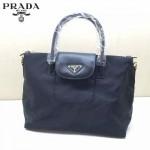 PRADA BN2106 秋冬時尚新款黑色購物包